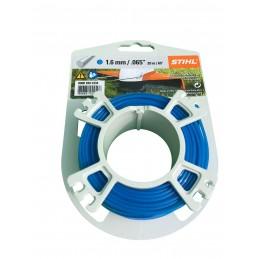 STIHL Fil débroussailleuse nylon rond 1.6mm/20m bleu 9302334 00009302334