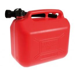 Jerrican plastique essence 10 L avec bec verseur