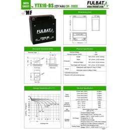 FULBAT BATTERIE FTX5L-BS ACIDE SEPARE (FOURNI) 12V 4.2 Ah 113-70-105 - / + FTX16BS