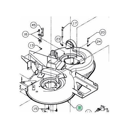 MTD PLATEAU DE COUPE 92CM NOIR POUR LT5 68304418DS, 683-04418-DS