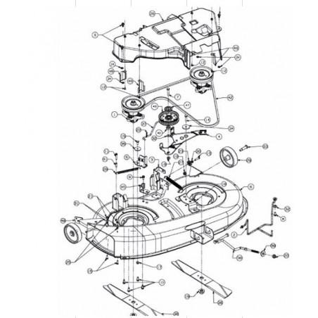 MTD PLATEAU DE COUPE NOIR COMPLET 96 CM LT-5, 913060616S, 913-060616-S
