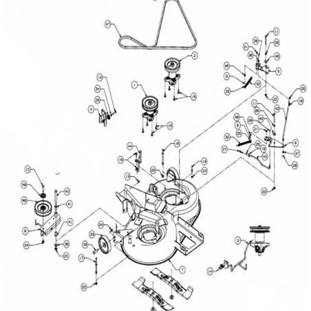 MTD PLATEAU DE COUPE COMPLET 92CM EJ. ARRIERE LT-5 913070006S, 913-070006-S