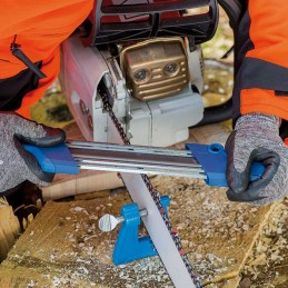 Affûteuse manuelle pour chaînes de tronçonneuses Pferd, CS-X-5.5, 11098055, limes de 5.5 mm