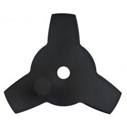 disque de débroussailleuse 3 dents. diamètre extérieur 255 mm  et alésage : 25,4 mm