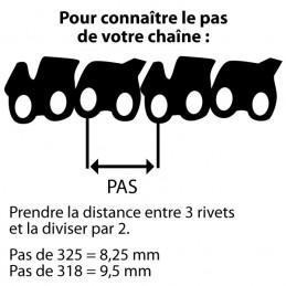 Chaîne de tronçonneuse prédécoupée - Pas de3/8 LP - 050 - 57 maillons