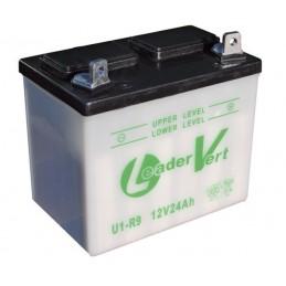 Batterie tracteur tondeuse sans acide U1R9, 12V , 24Ah, borne + à droite