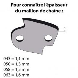 Chaîne de tronçonneuse prédécoupée - Pas de 3/8 LP - 050 - 52 maillons