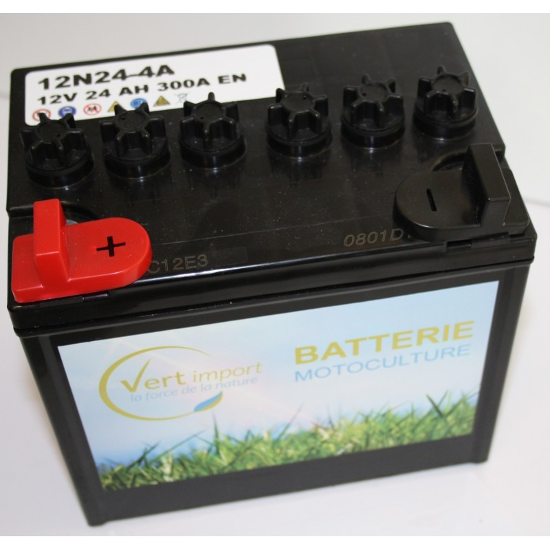 batterie tracteur tondeuse avec acide 12n24 4a 12 v 24 ah jardin promo. Black Bedroom Furniture Sets. Home Design Ideas
