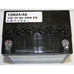 Batterie tracteur tondeuse sans acide 12N24-4A, 12 V, 24 Ah