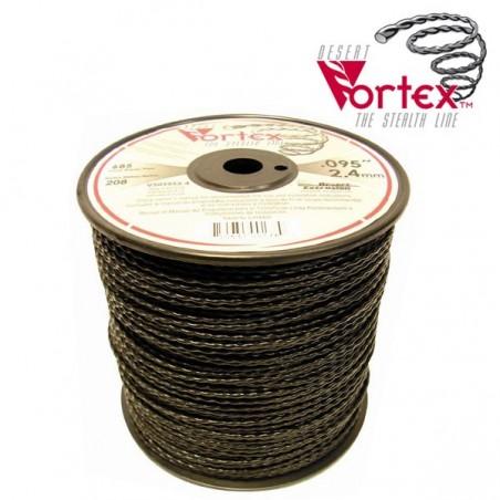 Fil nylon vortex Ø 2,4 mm pour débroussailleuse en bobine de 208 mètres