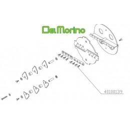 Vis à tête fraisée fixation couteau broyeur de végétaux Delmorino Scutum, Pugio, 40100139
