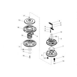 Embrayage de lame tondeuse Kaaz 71067-106, 71067106, LM5360HXA, LM484HX, Dormak, CR53 pro