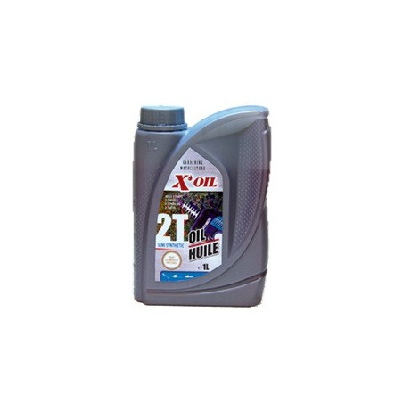 Bidon huile moteur 2 temps semi-synthèse 1 litre