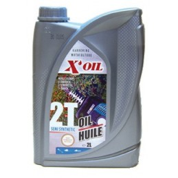 Bidon huile moteur 2 temps semi-synthèse 2 litres
