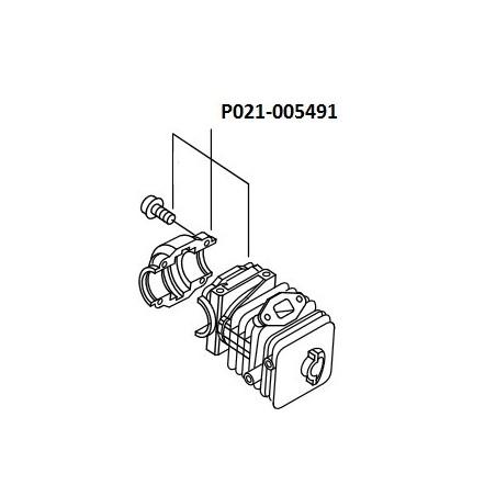 Kit cylindre tronçonneuse Echo CS320 TES, P021-005491, P021005491