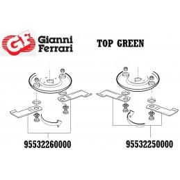 Kit embout de lame droite, tondeuse Gianni Ferrari, TOPGREEN, 95532260000