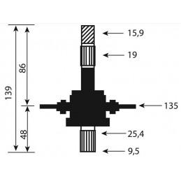 Palier de lame tracteur tondeuse MTD, Mastercut, White, Gutbrod 717-0906, 7170906