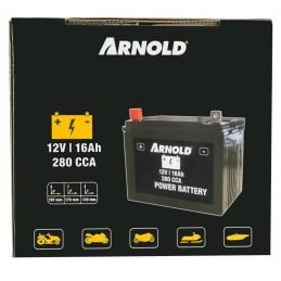 Batterie tondeuse 12V 16 AH 280CCA + à gauche