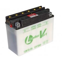 Batterie tracteur tondeuse sans acide 12N18-3A, 12 V, 18 Ah, borne + à droite